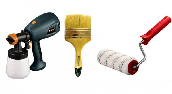 Инструменты для покраски фанеры