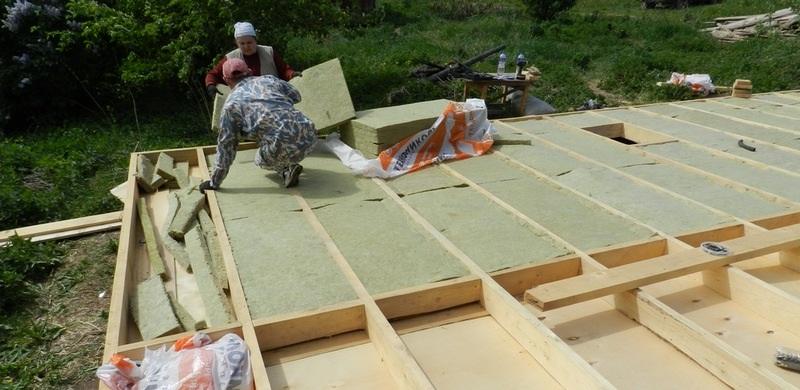 Перекрытие каркасного дома